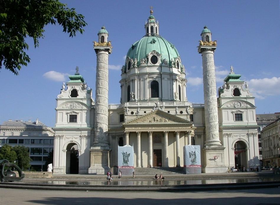Arhitektura Baroka Jb-fischer-von-erlach-karlskirche-elevation